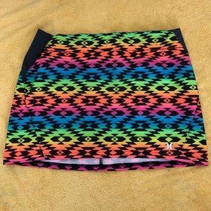 Neon colored water sport skirt- Hurley